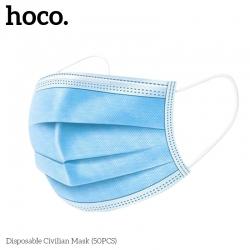 Medicininės apsauginės kaukės HOCO 3 sluoksnių 50vnt