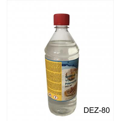 Dezinfekcinis skystis dezinfekantas  spiritinė valymo priemonė DEZ-80 (1000ml)