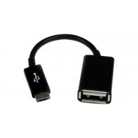 Adapteris iš  microUSB  į USB (OTG) juodas