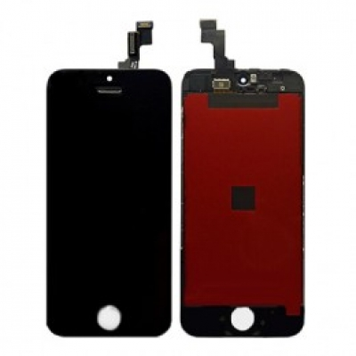 Ekranas Apple iPhone 5S / SE su lietimui jautriu stikliuku juodas (Refurbished, copy backlight) ORG