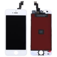 Ekranas Apple iPhone 5S / SE su lietimui jautriu stikliuku baltas ORG