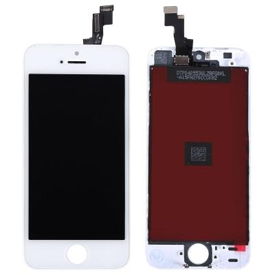 Ekranas Apple iPhone 5S / SE su lietimui jautriu stikliuku baltas (Refurbished, copy backlight) ORG