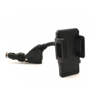 Įkroviklis automobilinis ir Universalus telefono laikiklis su dviem USB jungtimis Tellos CCH-02 (3.1A)