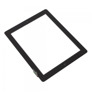 Lietimui jautrus stikliukas Apple iPad 2 juodas su home mygtuku ir laikikliais HQ