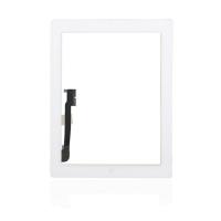 Lietimui jautrus stikliukas Apple iPad 4 baltas su home mygtuku ir laikikliais HQ