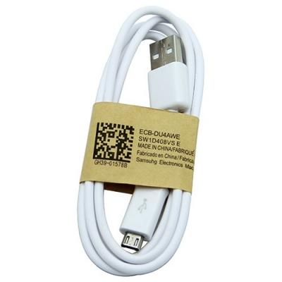 USB kabelis ORG Samsung i9500 S4 / N7100 Note 2  microUSB  (ECB-DU4AWE) baltas 1.0m