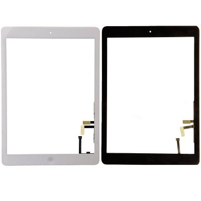 Lietimui jautrus stikliukas Apple iPad 5 Air baltas su home mygtuku ir laikikliais HQ