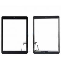 Lietimui jautrus stikliukas Apple iPad 5 Air juodas su home mygtuku ir laikikliais HQ