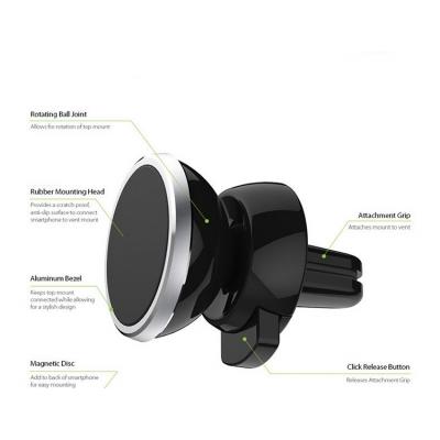 Automobilinis Universalus telefono laikiklis Tellos CPH-26, tvirtinamas ant ventiliacijos grotelių, magnetinis
