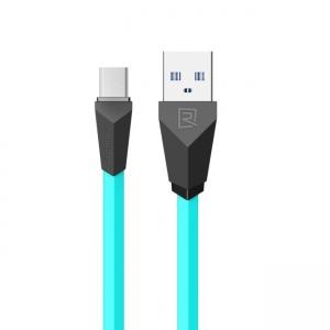 USB kabelis Remax RC-030m Alien microUSB baltas-mėlynas