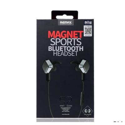 Belaidė laisvų rankų įranga Remax RB-S2 Magnet Sports Bluetooth 4.1 magnetinis tarpusavio tvirtinimas