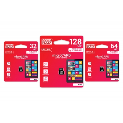 Atminties korta GOODRAM MicroSD 32Gb (class 10) be adapterio
