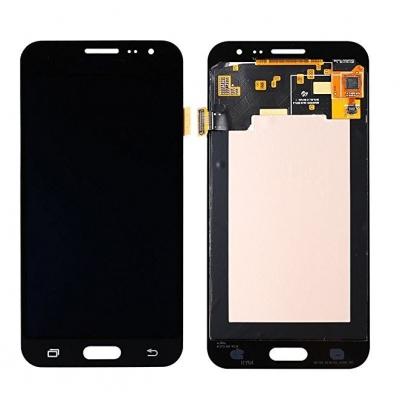 Ekranas Samsung J320 J3 2016 su lietimui jautriu stikliuku juodas originalus (service pack)