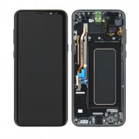 Ekranas Samsung G955F S8 Plus su lietimui jautriu stikliuku juodas originalus (service pack)