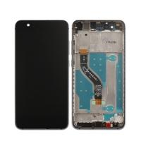 Ekranas Huawei P10 Lite su lietimui jautriu stikliuku su rėmeliu juodas HQ