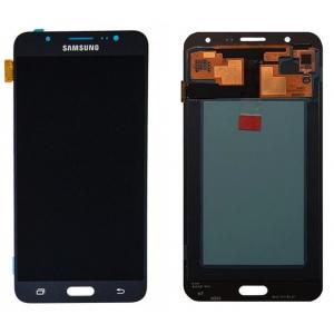 Ekranas Samsung J710 J7 2016 su lietimui jautriu stikliuku juodas (reguliuojamas apšvietimas) HQ