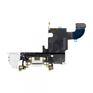 Lanksčioji jungtis Apple iPhone 6S audio ir įkrovimo kontaktų, su mikrofonu balta naudota ORG