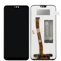 Ekranas Huawei P20 Lite su lietimui jautriu stikliuku juodas HQ