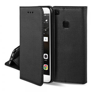 Dėklas Smart Magnet Huawei Mate 20 Lite juodas