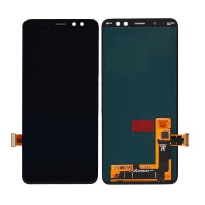 Ekranas Samsung A530 A8 2018 su lietimui jautriu stikliuku juodas originalus (service pack)