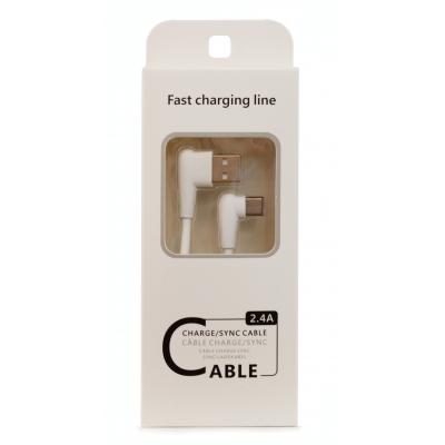 USB kabelis FastCharging Line Apple  microUSB  baltas, 1.0m