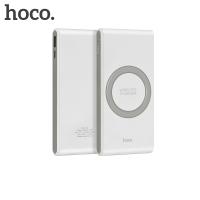 Išorinė baterija Power Bank Hoco B32 8000mAh su belaidžiu įkrovikliu balta