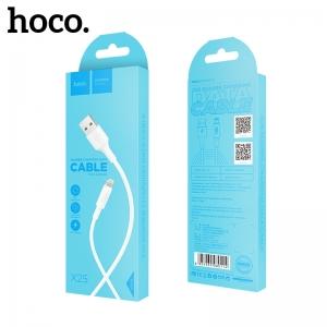 USB kabelis Hoco X25 Lightning 1.0m baltas