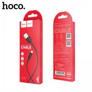 USB kabelis Hoco X25 Type-C 1.0m juodas