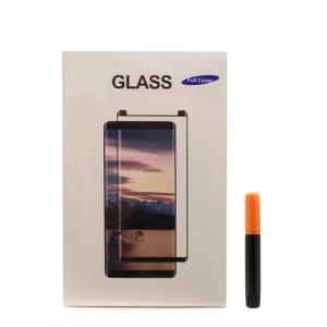 LCD apsauginis stikliukas M1 5D UV Glue Samsung G973 S10 lenktas skaidrus