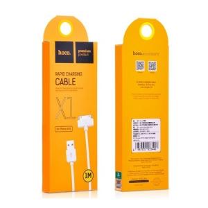 USB kabelis Hoco X1 iPhone 30-pin 1.0m baltas