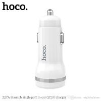 Įkroviklis automobilinis HOCO Z27A Staunch QC3.0 baltas
