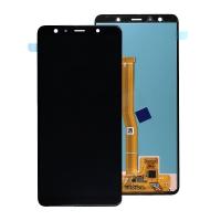 Ekranas Samsung A750 A7 2018 su lietimui jautriu stikliuku juodas originalus (service pack)