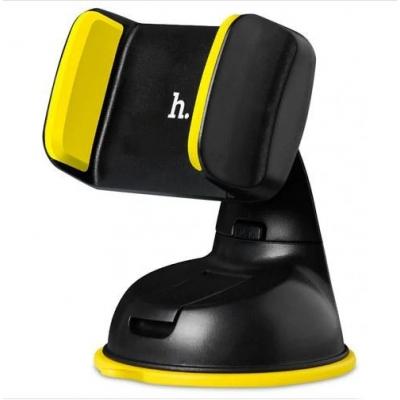 Automobilinis Universalus telefono laikiklis Hoco CA5, tvirtinamas prie lango, trumpa-standi kojelė juodas