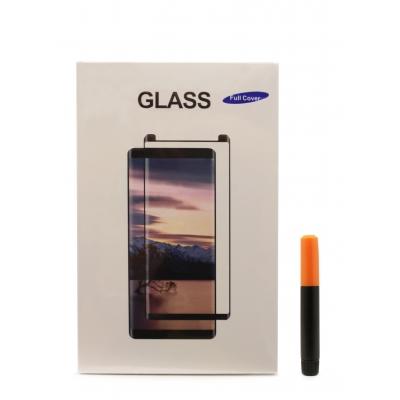 LCD apsauginis stikliukas M1 5D UV Glue Samsung N960 Note 9 lenktas skaidrus