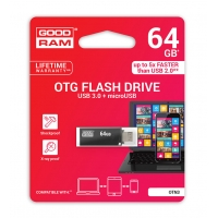Atmintinė GOODRAM OTN3 64Gb OTG USB 3.0 +  microUSB