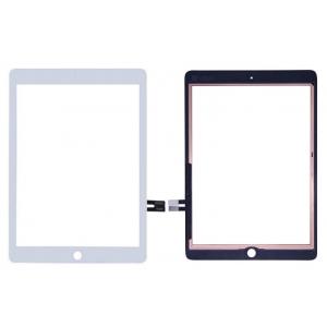 Lietimui jautrus stikliukas Apple iPad 2018 9,7 (6th) baltas su home mygtuku ir laikikliais HQ