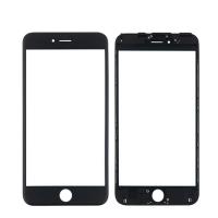 LCD stikliukas Apple iPhone 6S Plus su rėmeliu ir OCA juodas V2 ORG