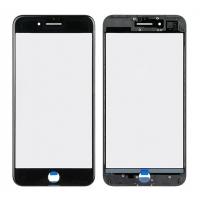 LCD stikliukas Apple iPhone 7 Plus su rėmeliu ir OCA juodas V2 ORG