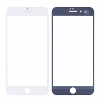 LCD stikliukas Apple iPhone 7 Plus su rėmeliu ir OCA baltas V2 ORG