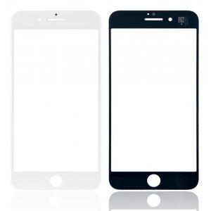 LCD stikliukas Apple iPhone 8 Plus su rėmeliu ir OCA baltas V2 ORG