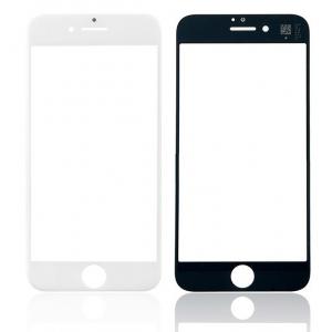 LCD stikliukas Apple iPhone 8 / SE2 su rėmeliu ir OCA baltas V2 ORG