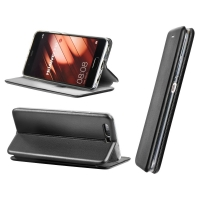 Dėklas  Book Elegance  Samsung A750 A7 2018 juodas