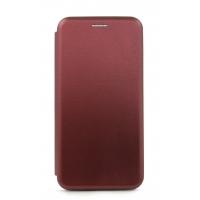 Dėklas  Book Elegance  Samsung A750 A7 2018 vyno raudona