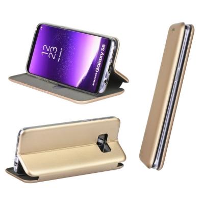 Dėklas Book Elegance Huawei Y6 2019 / Y6 Pro 2019 aukso spalvos