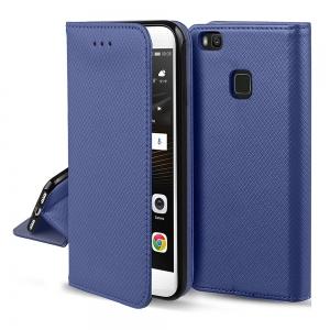 Dėklas Smart Magnet Huawei Y6 2019 / Y6 Pro 2019 tamsiai mėlynas