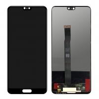 Ekranas Huawei P20 su lietimui jautriu stikliuku juodas HQ