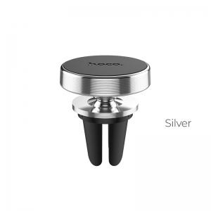 Automobilinis Universalus telefono laikiklis Hoco CA47 tvirtinamas į ventiliacijos groteles, magnetinis,sidabrinis