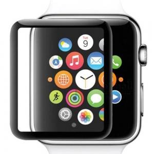 LCD apsauginis stikliukas 5D Full Glue Apple Watch 38mm juodas