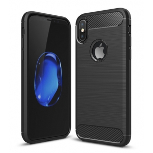 Dėklas Carbon Lux Samsung A750 A7 2018 juodas