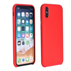 Dėklas Silicone Cover Apple iPhone XS Max raudonas
